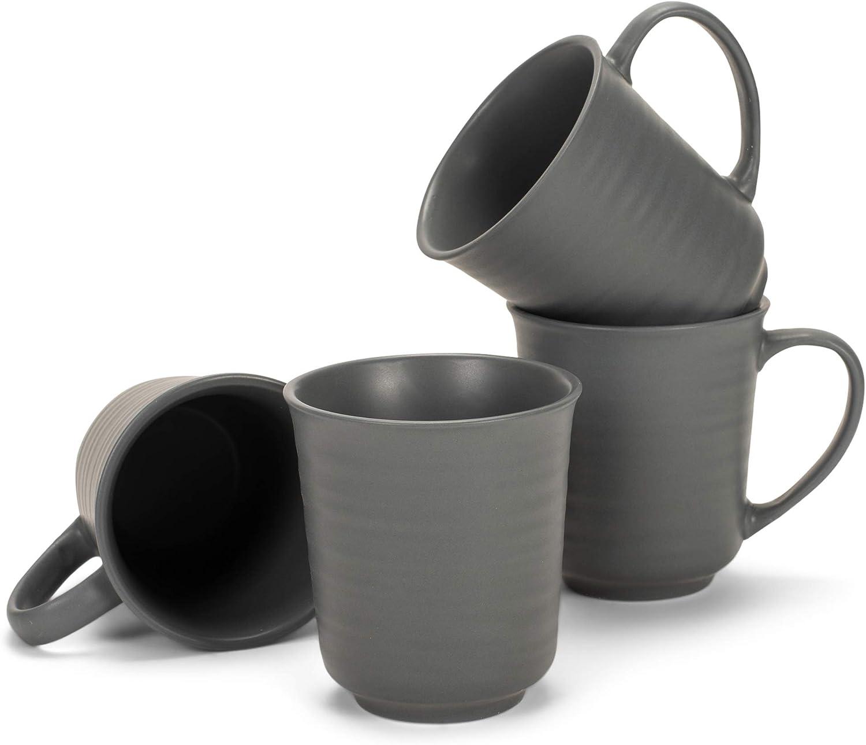 Elanze Designs 2021 Black Matte specialty shop Glaze Finish 17 Stoneware Coffe ounce