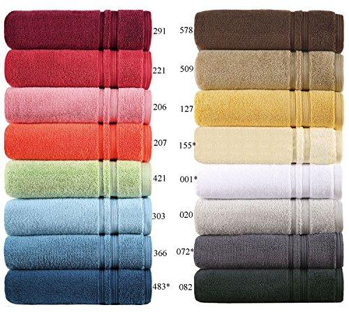 Egeria Handtücher Serie Manhattan Gold, in Luxus-Qualität Waschhandschuh, Gästetuch, Handtuch und Duschtuch, Grösse Gästetuch 30x50 cm, Farbe 127 clivia