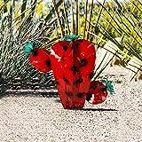 XTBL Kunstpflanze Künstliche Sukkulenten Fälschung Grünes Mexikanische Metallkunst Pflanzen Metallkaktus-Skulptur Garden Yard Sculpture Home Decor Skulptur Gartenstecker