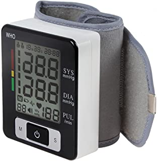 LPY-Wrist Blood Pressure Monitor, Automatic Digital BP Tester with Large Backlit LCD, Irregular Heartbeat Monitor,Two User Memories,IHB Indicator