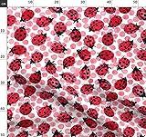 Marienkäfer, Rote Punkte, Schwarze Punkte Stoffe -