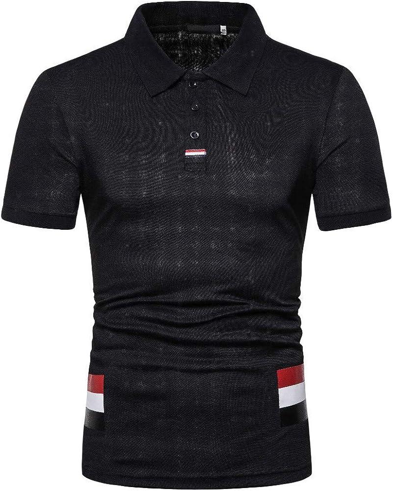 Women's Dress Fashion Solid Color Lapel Short Sleeve Plus Size Slim T-Shirt