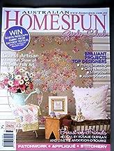 Australian Homespun 2009 No. 71 Vol. 10 No. 4 Flowerpot Blues Chair Pad,