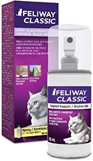 FELIWAY Spray 60 mL - Helps Control Urine Spraying & Cat Scratching in The Home and Also Reassures Cats During Car Travel...