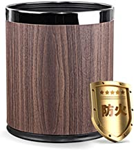 ZXJshyp Household Uncovered Storage Bucket,Double-Layer Fireproof Trash Can,Ultra-Thin Round Plastic Small Trash Can Waste...