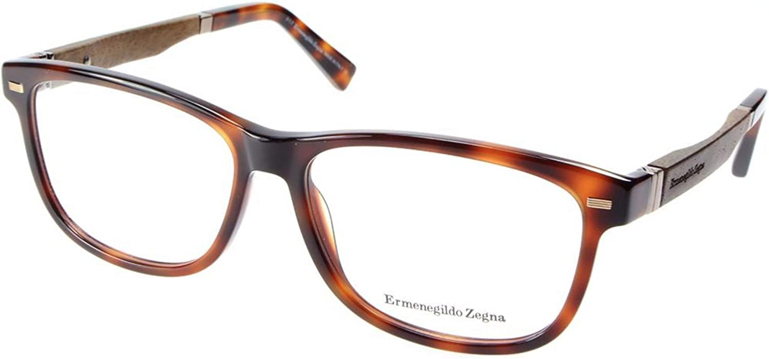 ERMENEGILDO ZEGNA EZ5062052 ACETATE EYEGLASS FRAME Havana Brown 55MM