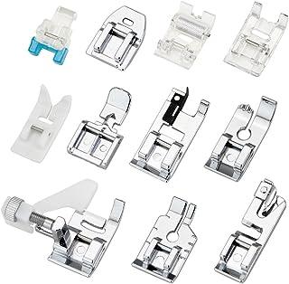 comprar comparacion JTDEAL Kit Prensatelas, 11 Piezas Multifuncional Pie de Maquina de Coser, Aplicar a Algunos Modelos de Muchas Marcas(Alfa/...