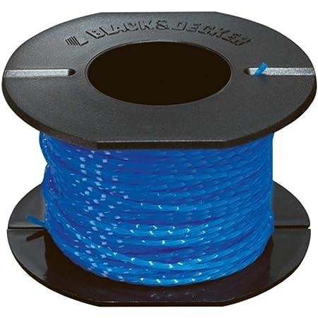 BLACK & DECKER A6440-XJ - Repuesto hilo de 25m de largo y 1.5 mm de diámetro, hilo trenzado para un mejor corte y mayor resistencia, para los modelos con sistema de alimentación