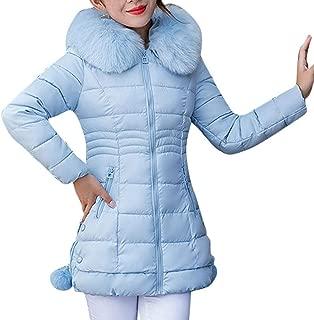 Londony ♥‿♥ Winter Coats for Women,Women's Down Coat with Fur Hood Down Parka Puffer Jacket
