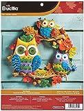 Bucilla Felt Applique Wall Hanging Kit, 17 by 17-Inch, Owl Wreath