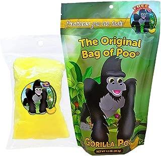 The Original Bag of Poo, Gorilla Poo, Novelty Yellow Cotton Candy Gag Gift