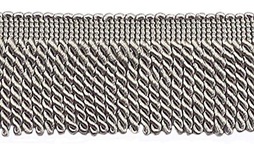 DÉCOPRO 10 Yard Value Pack 2.5 Inch Bullion Fringe Trim Style# EF25 Color: 049 - Grey 9.5 Meters / 30 Ft