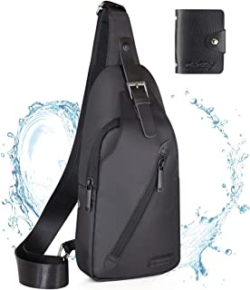 LST Sling Bag Water Resistance Crossbody Chest Backpack Outdoor Cycling Chest Shoulder Unbalance Gym Fashion Bags Sack Satchel for Men & Women