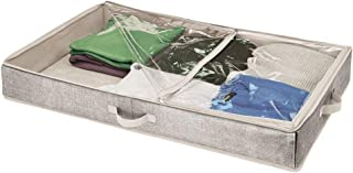 peluches mDesign Cube de rangement de placard en tissu pour articles de b/éb/é jouets Pack de 2 serviettes Gris couvertures