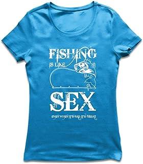lepni.me T-shirt voor dames Vissen is een geweldige humor Citaten