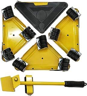 らくらくヘルパーセット 台車スマートセット 軽がるキャリー 家電の家具移動 重量物 移動用 (イエロー)