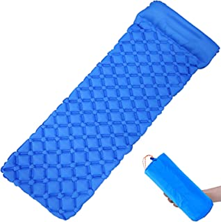 Wolf Walker Camping Sleeping Pad with Pillow, Inflatable Camping Mat for Backpacking, Hiking Air Mattress - Lightweight, C...
