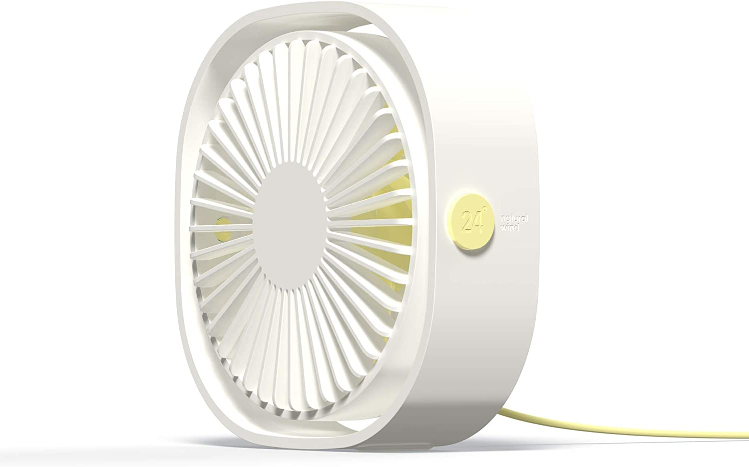 Esthepro USB Desk Fan, Portable Desktop Table Cooling Fan, Three Speeds Adjustable, USB Connection Power, Strong Quiet Wind, Great for Office Home Outdoor Car Travel (White)