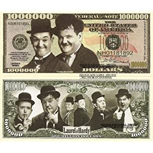 Novelty Dollar Laurel and Hardy Stan and Oliver Comedy Legends Million Dollar Bills x 4 New:Shizuku7148