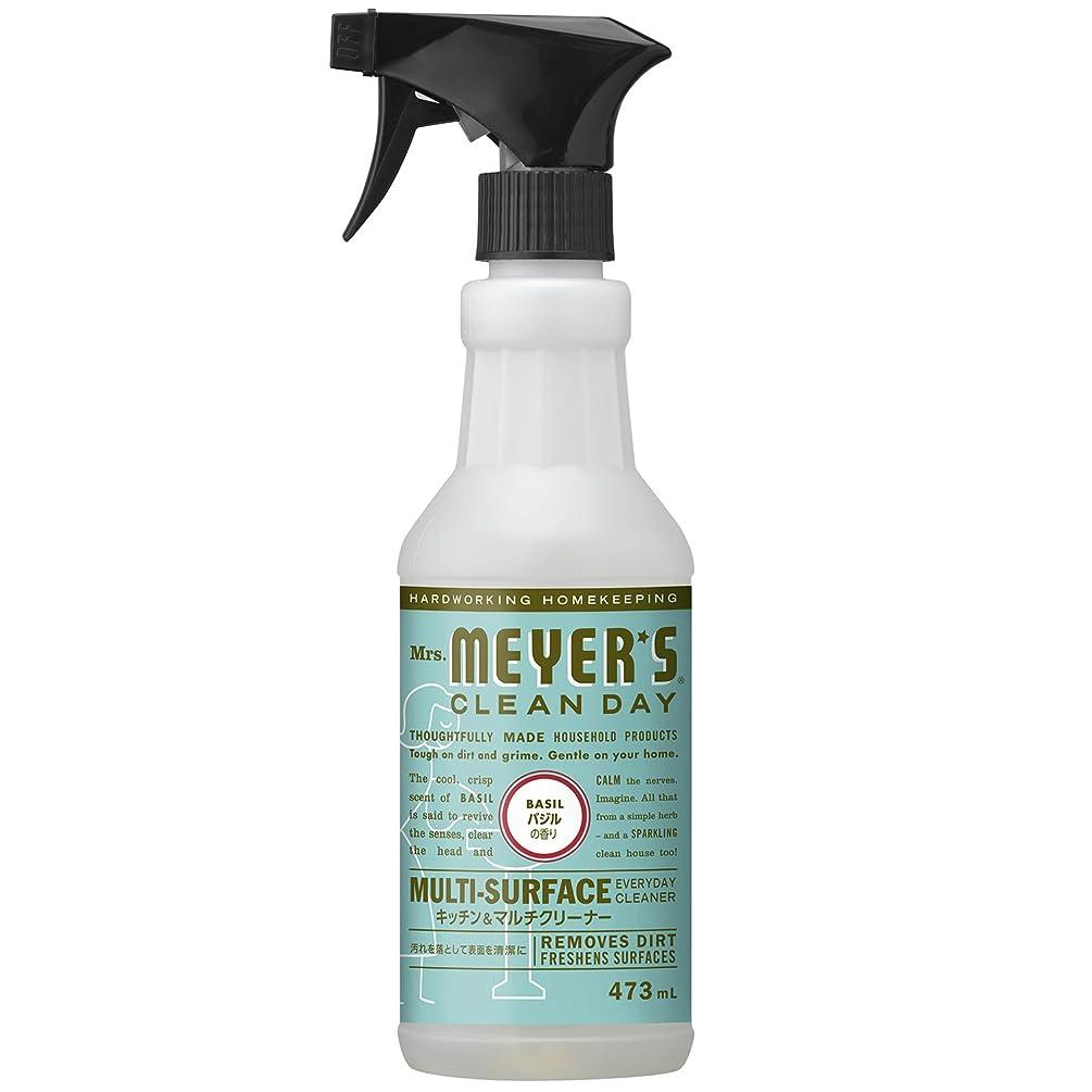 補体改善する炭水化物ミセスマイヤーズ クリーンデイ(Mrs.Meyers Clean Day) キッチン&マルチクリーナー バジルの香り 473mL