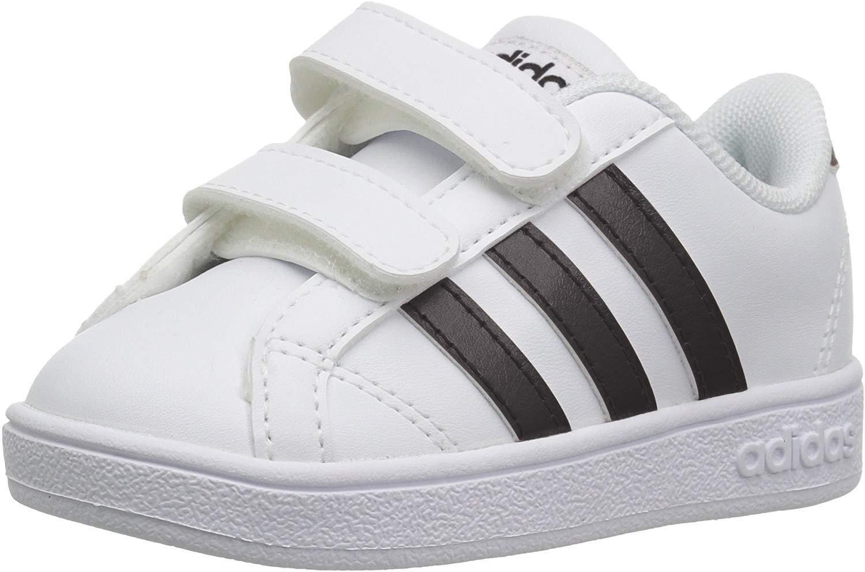 Baby Baseline Sneaker, White/Black