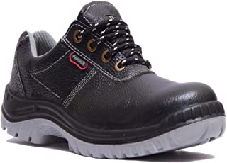 Hillson Black Leather Tech Panther PVC Moulded Safety Shoes - 9