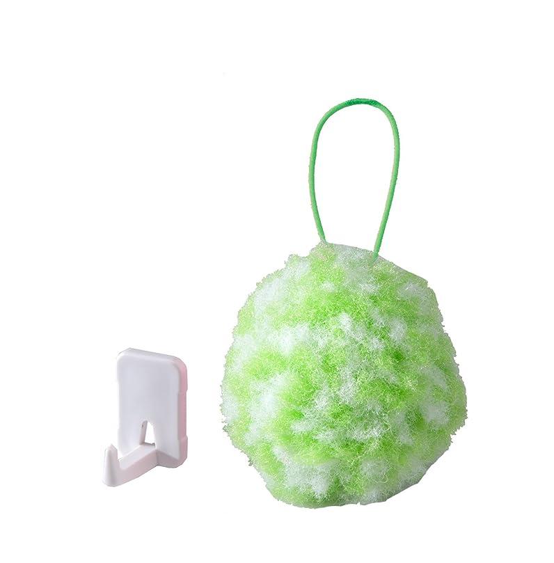 受付物思いにふけるカリングサンコー 手洗いブラシ びっくりフレッシュ ピカピカ手洗いボール グリーン BF-36