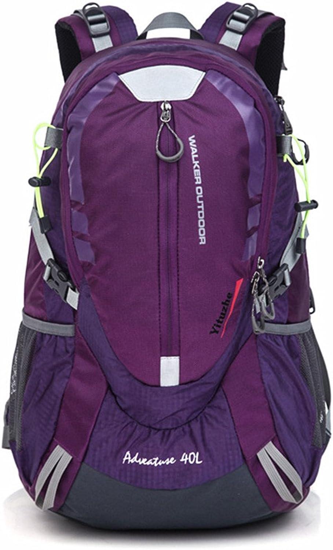 ChenYongPing Mountaineering Backpack Reisen Camping Klettern Wandern Ruckscke Nylon Trail Freizeit Sport Multifunktionale Gepcktasche Neutral Für den Auenbereich geeignet (Farbe   Lila)