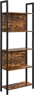 VASAGLE 5-Tier Bookshelf, Storage Rack Shelf, Bookcase with 5 Shelves, Steel Frame, for Living Room, Entryway, Hallway, Of...