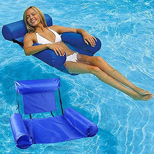 wsbdking Hamaca de Agua, Piscina portátil Cama Flotante Inflable Silla de salón para Adultos Piscina Bañera de hidromasaje Playa Play Play Summer