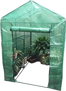 Techo Puntiagudo Yorbay Invernadero con Tela de Malla de PE Color Verde 100 /× 50 /× 190 cm Terraza para Tomates Jard/ín