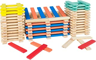 WOOMAX - Cubo 200 bloques apilables de madera (ColorBaby 43617)