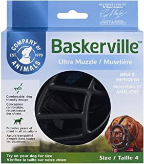 comprar comparacion Baskerville Ultra - Bozal de goma, Negro, Talla 4 (Longitud: 9 cm/Anchura: 32 cm)