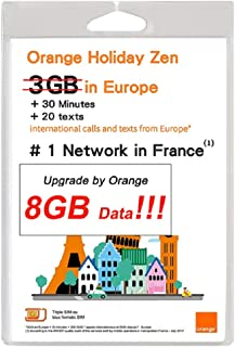 Orange Holiday Europe - 3GB Internet Data in 4G/LTE (currently 8GB promotion) + 30mn + 200 Texts from 30 Countries in Europe to Any Country Worldwide