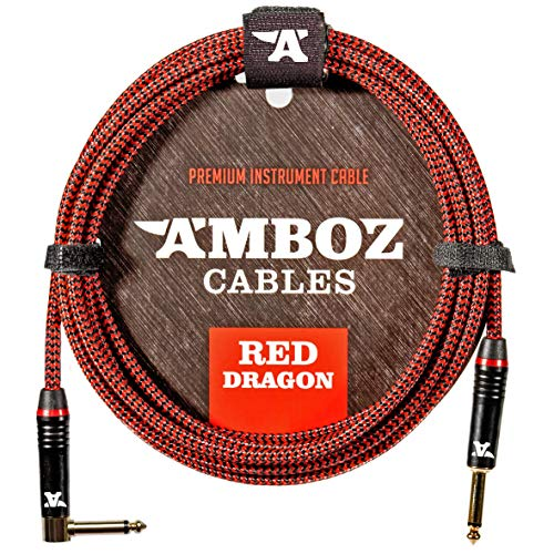 Cable para Instrumentos Red Dragon - Sin ruido para Guitarra y Bajo...