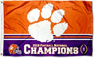 College Flags and Banners Co. Clemson Tigers 2018 NCAA Football National Champions Flag