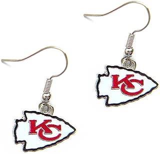 aminco Kansas City Chiefs Dangle Logo Earring Set Charm Gift