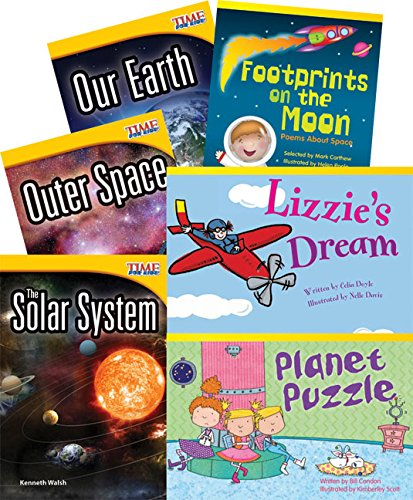 Space Adventures 6-Book Set (Themed Fiction and Nonfiction) (Teacher Created Materials Library Set)