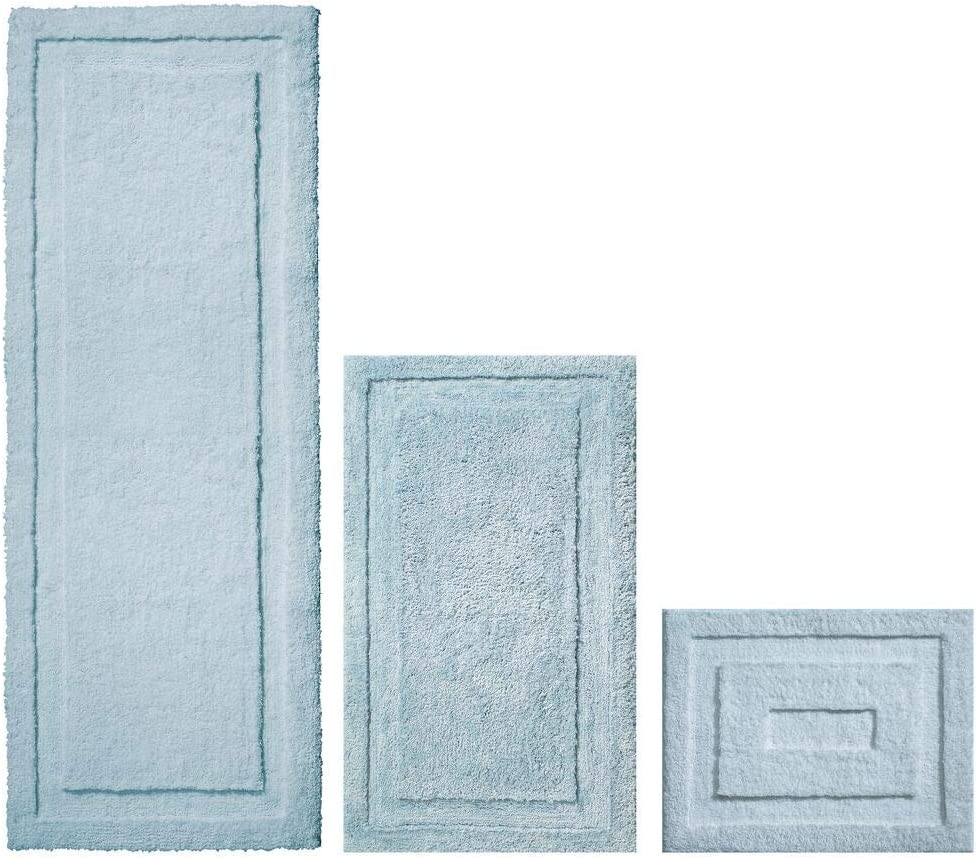 mDesign Soft store Microfiber Max 87% OFF Polyester Spa Rugs Vanity for Bathroom