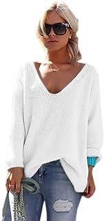 1a336c22 Amazon.es: jerseys de punto mujer largos - Blanco / Jerséis ...
