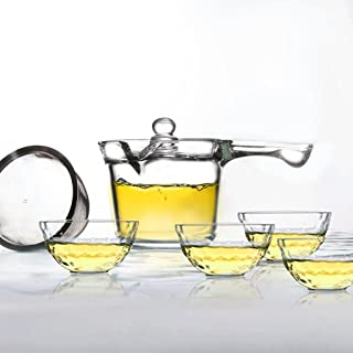 Teapots 250ml Teapot One Hand And Easy To Handle Red Teapot, Heat-resistant Glass Side Of The Pot (teapot + 4 Cups) Tea pot