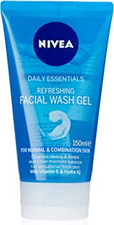 NIVEA Daily Essentials Refreshing Face Wash Gel Cleanser With Vitamin E & Hydra IQ For Normal & Combination Skin, 150ml