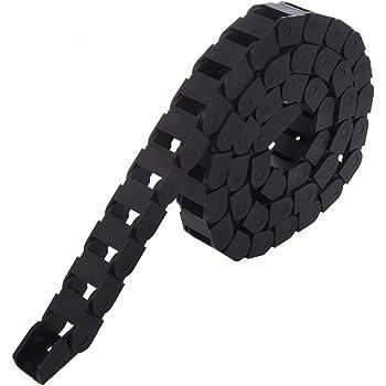 TOOGOO Chaine de cable de remorquage R Chaine de cable de remorquage en plastique de machines-outils noir 15 x 20 mm