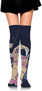 Cool Moon Space Stars Calcetines largos hasta la rodilla unisex Botas Calcetines largos Longitud 60cm