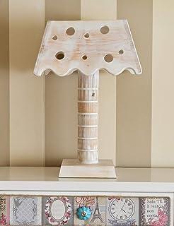 Lámpara madera reciclada