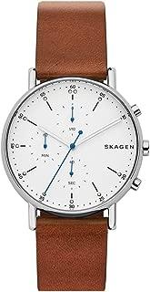 Skagen Men's Quartz Watch analog Display and Leather Strap, SKW6462