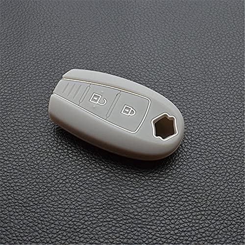 HJPOQZ Funda Protectora De Silicona para Llave, para Audi B6 B7 B8 A4 A5 A6 A7 A8 Q5 Q7 R8 TT S5 S6 S7 S8 Sq5 Rs5Gris