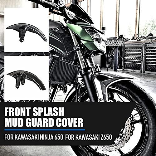 Lorbaber Cubierta de guardabarros para rueda delantera de motocicleta protector contra salpicaduras, para Kawasaki Z650 Ninja650 Z-650 NINJA 650 2017 2018 2019 2020 (Color sin pintar)
