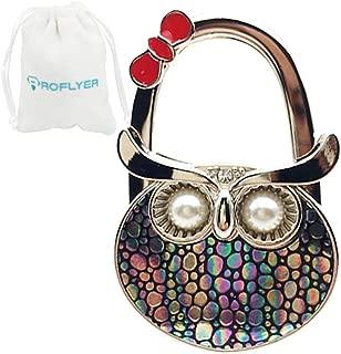 Royceflyer ROFLYER Night Owl Style Butterfly Pattern Design Shoulder Handbag Hangers Folding Purse Holder Hooks