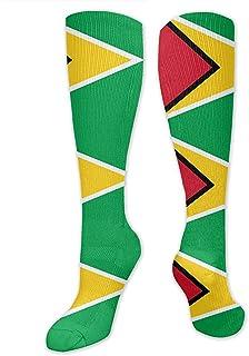 Tonesum, Calcetines con estampado de bandera de Guyana Calcetines cálidos Botas Calcetines deportivos elegantes y cálidos 50CM